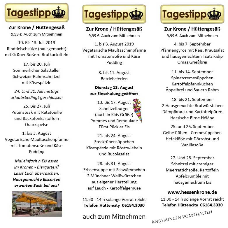 Tagestipp August-September 2019